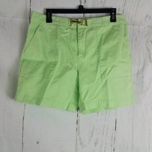 Chaps Women's Lime Green Shorts Size 10